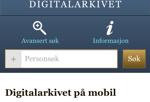 Digitalarkivet-app